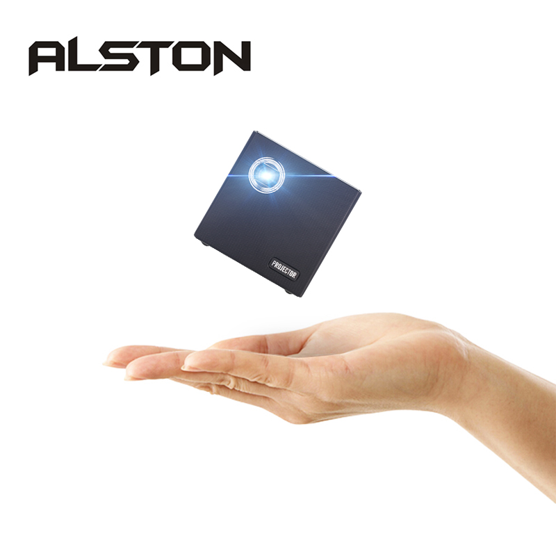ALSTON-miniproyector LED C80 para cine en casa, DLP, Android, WiFi, Bluetooth 4,0, compatible con Miracast Airplay
