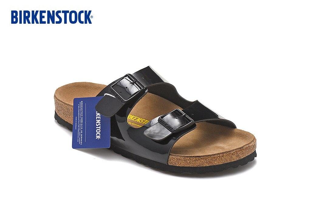 Birkenstock Arizona Summer Men Women Flats Sandals Cork Slippers Casualshoes Colors Flip Flop Open-toed Sandals Cork Slippers