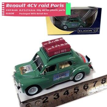 ELIGOR 1/43 skala francja Renault 4CV raid paryż 8cm długość odlewany metal model samochodu zabawka do kolekcji, prezent, dzieci, dekoracja