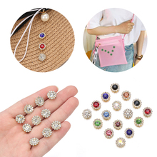 Hat-Accessories Glass-Stone-Buttons Rhinestone Clothes Decoration Diy-Craft Crystal Flower-Shaped