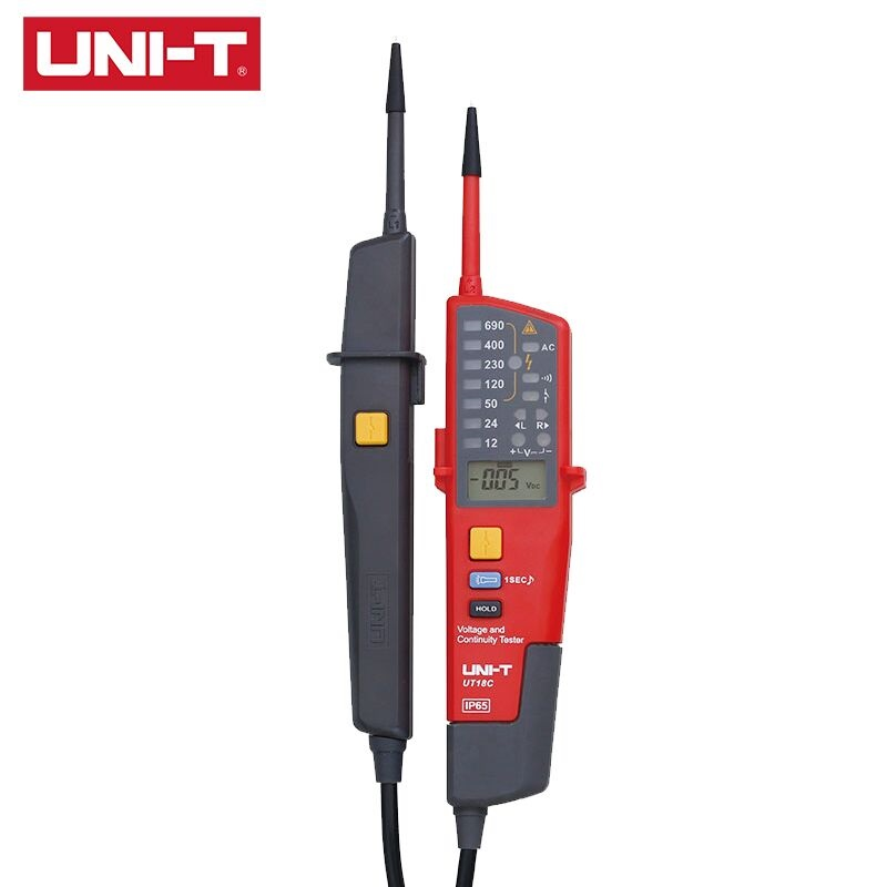 UNI T UT18C AC DC Voltage Meters Metal Detector Pen Continuity Tester Digital Voltmeter On Off RCD Test Single Pens Measurement|Voltage Meters|   - title=