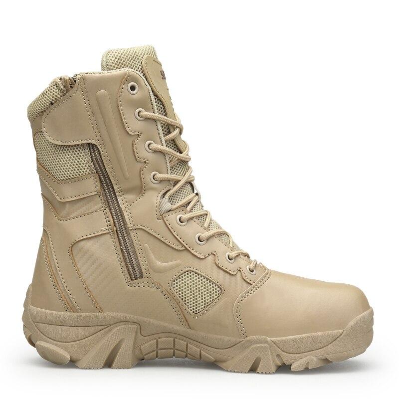 Männer Military Tactical Stiefel Winter Leder Spezielle Kraft Wüste Ankle Kampf Stiefel Männer Leder Schnee Stiefel Armee Schuhe Große Größe
