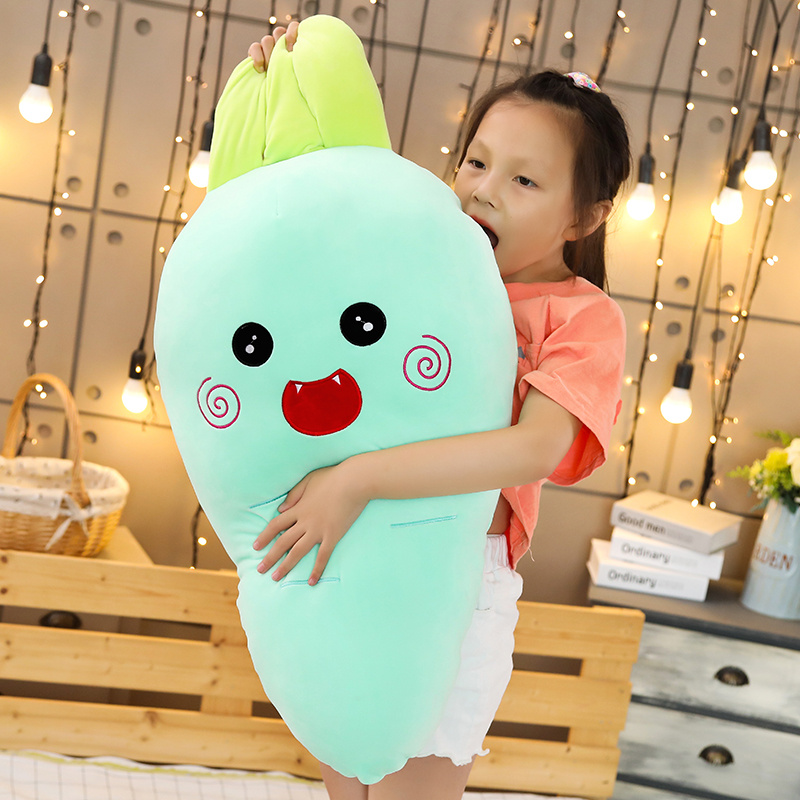 Lovely New Cretive Simulation Plant Carrot Plush Toy Carrot Stuffed With Down Cotton Super Soft Pillow Lovely Gift For Girl Kids in Stuffed Plush Animals from Toys Hobbies
