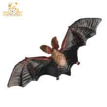 Simulation Bat Action Figures Fly Animal Toys Mini Decor Cartoon Lifelike Dolls Cognition Anime Figurines For Children Cool Gift