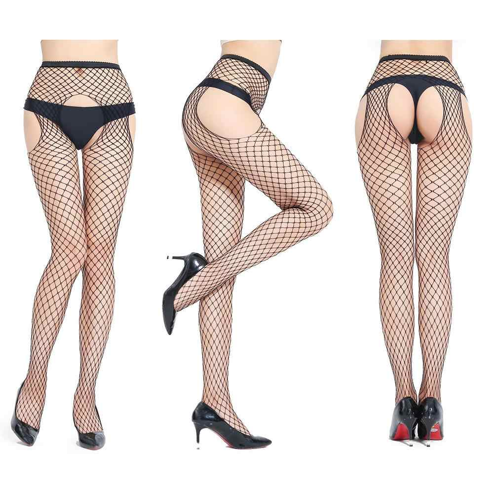 Women Sexy Stockings Open Crotch Pantyhose Female Fishnet Erotic Mesh Tights suitable for nightclub nightwear sex toys for woman