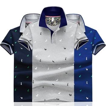 2020 Men Summer Deer Print Polo Shirt Short Sleeve Slim Fit Polos Fashion Streetwear Tops Men Shirts Sports Casual Golf Shirts 2