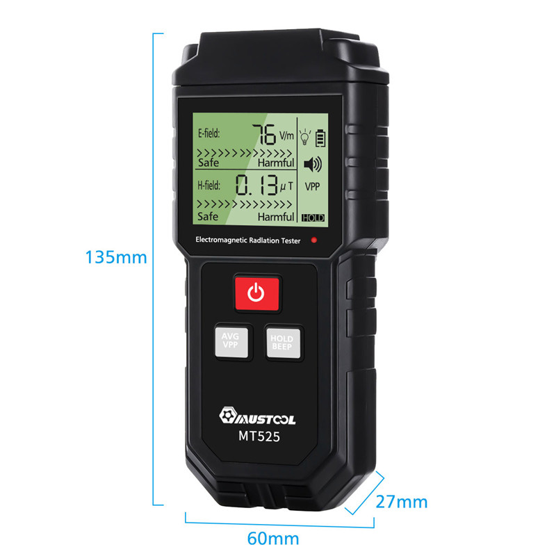 Tools : Electromagnetic Field Radiation Tester EMF Meter Handheld Counter Digital Dosimeter LCD Detector Measurement For Computer Phone