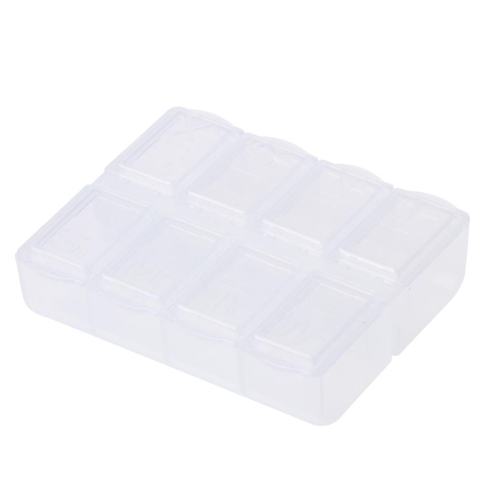 8 Grids Plastic Storage Box Case Home Organizer Jewelry Beads Pill Boxes Parts
