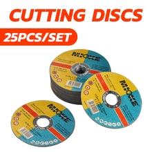 25 pçs/set Discos De Corte De Corte de Metal Fino 115 milímetros Angle Grinder Roda de Moagem Discos De Lixa de Aço Inoxidável DIY Ferramentas De Poder
