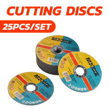 25pcs/set Thin Metal Cutting Slitting Discs Stainless Steel Sanding Grinding Discs 115mm Angle Grinder Wheel DIY Power Tools