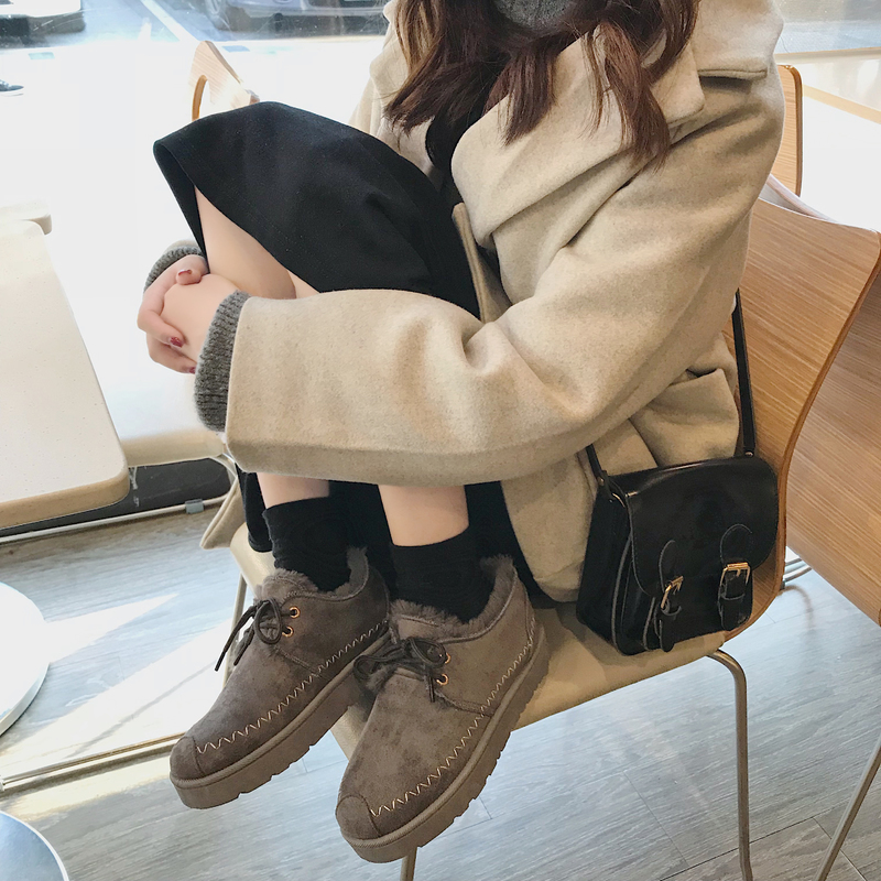 Bootee Woman 2019 Winter Shoes Women Lady Boots Low Heels booties Luxury Designer Round Toe Leather Booties Lace Up Australia 30