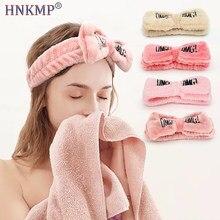 HNKMP umyć twarz łuk Hairbands dla kobiet dziewczyny opaski list
