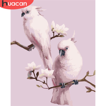 HUACAN Paint By Numbers Bird Drawing On Canvas Gift DIY Pictures By Number Animal Kits Hand Painted Painting Art Home Decor