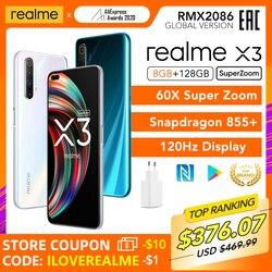 realme X3 SuperZoom Global Version x3 8GB 128GB 60X Super Zoom Snapdragon 855+ 120Hz Display 64MP Quad Camera 30W Charger
