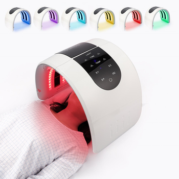 Face LED Mask Photodynamic Therapy Heating Treatment Beauty Machine Facial Whiten Skin Lifting Rejuvenation Anti Aging SPA Tool best offer beauty machine portable anti aging fractional rf dot matrix anti aging facial skin care spa salon