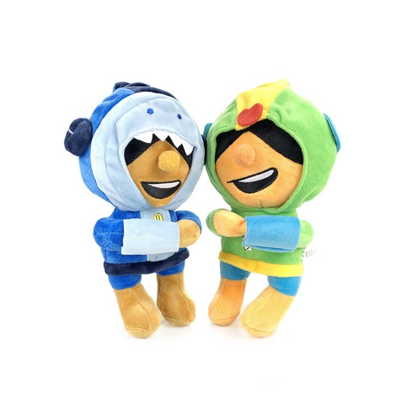 Brawl Stars Game Cartoon Star Hero Anime Figures Model Plush Dolls Spike Shelly Leon Primo Mortis Boy Girl Toy Kid Birthday Gift
