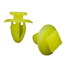 50x Auto interior door card fastener panel trim clamp clips for Ford Yellow Color Free shipping!