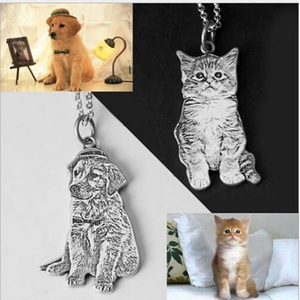 Image 2 - Pet Custom Keychain Necklace Personalized Jewelry 925 Sterling Silver Necklaces for Women Men Jewelry Memorial Gift