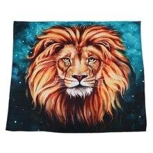 Промо-акция! Реалистичный настенный гобелен с принтом льва и романтическими картинками, художественные украшения для дома для гостиной