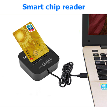 Smart Card Reader with 3 Ports USB HUB SIM TF SD for ISO 7816 EMV Chip Bank Card Portable Computer PC Bank Office Adapter