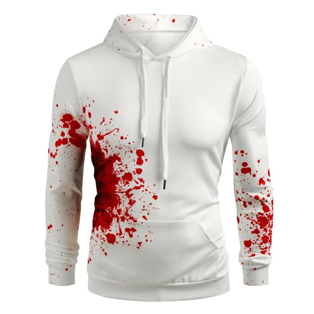 ZNG 2020 Sweatshirt Hoodie Moletom Women Men Blood Print Men's Hoodies Casual Long Sleeve Pullover Sweatshirt Sudadera Hombre