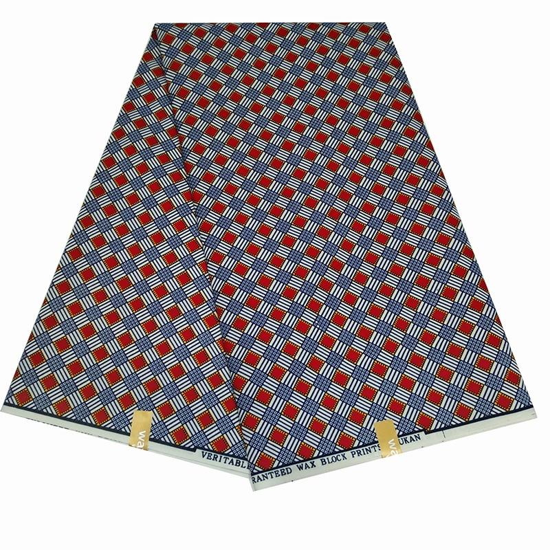 2020 6Yards/lot African Real Wax Prints Fabric 100% Polyester Nigerian Wax Fabrics For Women Wedding Dress Diy Making Y610