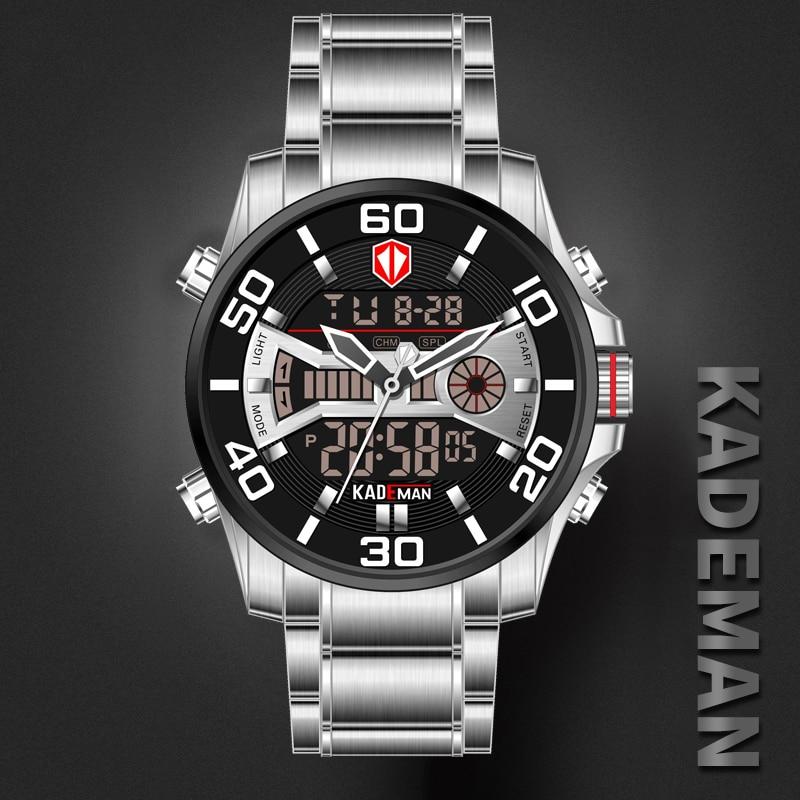 2019 NEW Luxury Men Watches 30M Waterproof Sport Watch Luxury LED Display Wristwatch Automatic Date Full Steel Casual Male Clock
