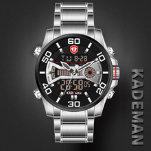 купить 2019 NEW Luxury Men Watches 30M Waterproof Sport Watch Luxury LED Display Wristwatch Automatic Date Full Steel Casual Male Clock по цене 1174.97 рублей