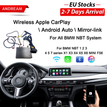 Беспроводной Apple CarPlay Android для авто BMW НБТ F10 F20 F30 X1 X3 X4 X5 X6 F48 F25 F26 F15 F56 мини Series1 на возраст 2, 3, 4, 5, 6, 7 Air play