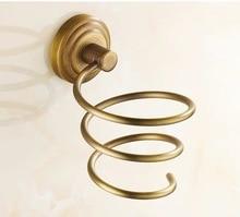 винтаж латунь ванная фен фен стеллаж органайзер европейский стиль матовый ванная вешалки настенный навесной