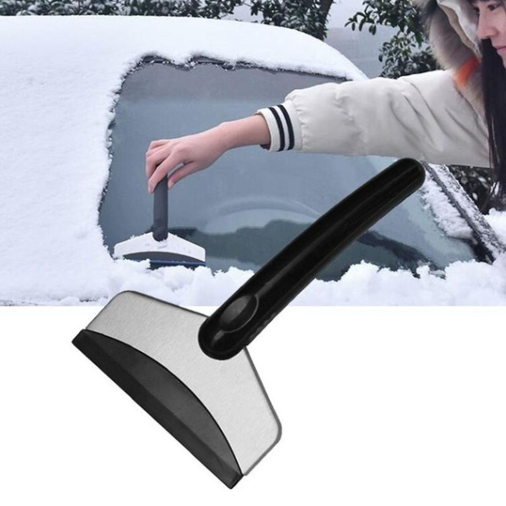 Car With Stainless Steel Snow Shovel Multi-function Defrosting Snow Scraper Tool In Winter Ice Scraping Glass Snow Removal