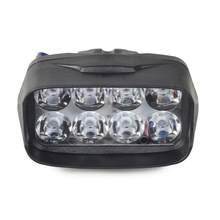 1 pçs 8 led 1200lm 12 w universal spotlight 6000 k drl