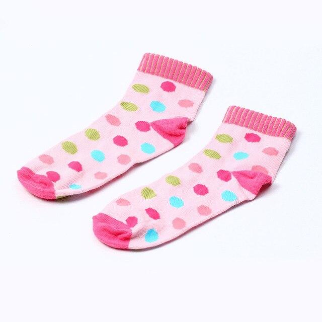 MAYA STEPAN 1 Pair Cotton Spring Autumn Baby Girls Kids Socks Children Warm Boys Dot Candy Colorl Kids Christmas Cheap Stuff 1