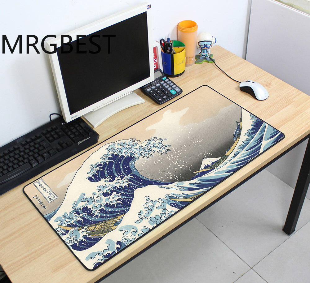 MRGBEST 80x40/70x40 Custom Large Mouse Pad Speed Keyboard Mat Rubber Gaming Desk For Game Player Desktop PC Computer Laptop