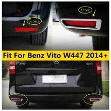 Yimaautotrims Chrome ด้านหลังหลอดไฟ LED สำหรับ Mercedes Benz Vito W447 2014 2019โครเมี่ยม ABS จัดแต่งทรงผมภายนอก