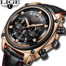 New 2019 LIGE men watches Top brand luxury men sports watch military casual waterproof Quartz wristwatch Gold Relogio Masculino luxury brand cadisen men watch quartz watches big design dual time zone casual military waterproof wristwatch relogio masculino