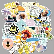 50 Pcs/Pack Stickers Fashion Style Explosion Models Suitcase Stickers For  Skateboard  Cartoon Waterproof Graffiti Sticker