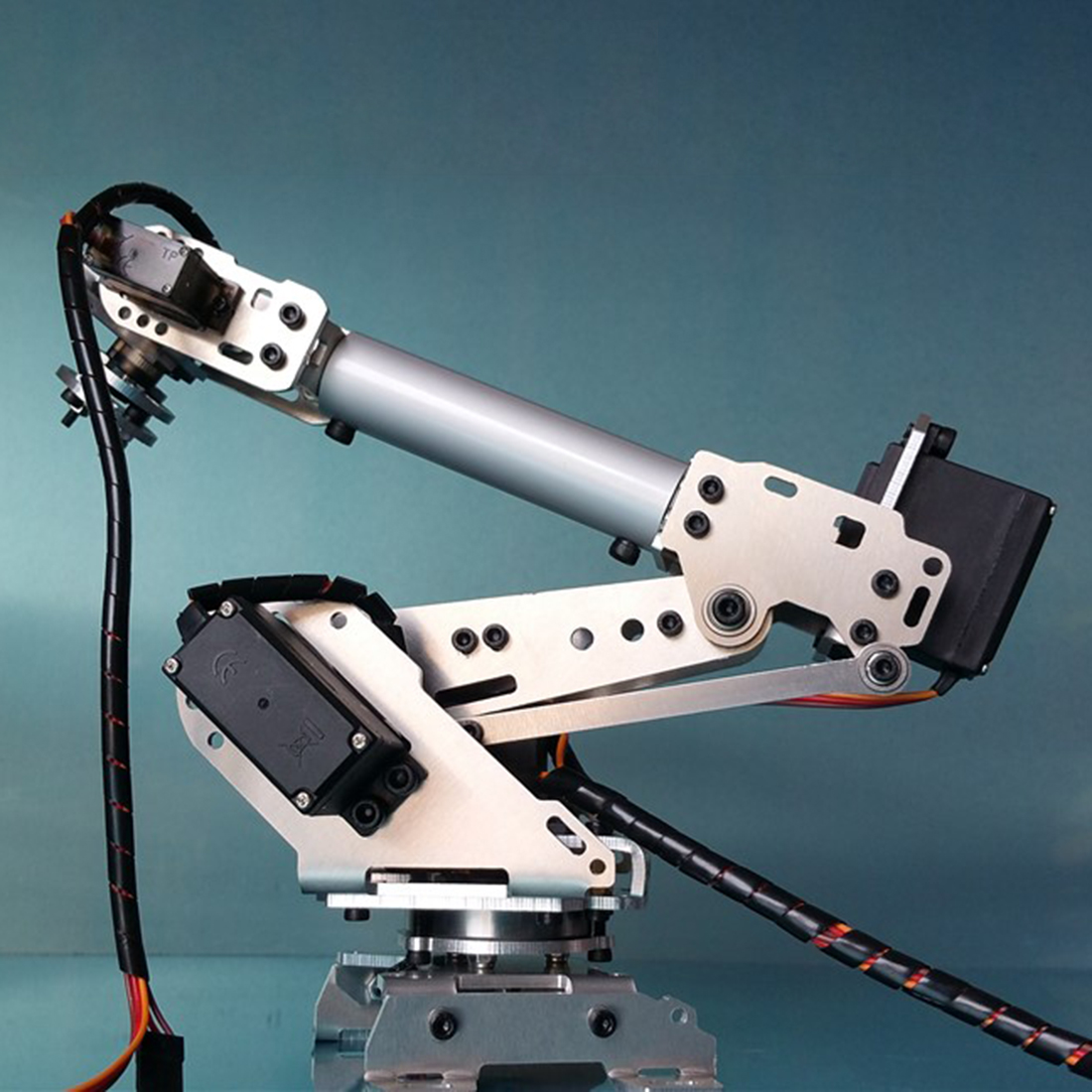 High Tech DIY 6DOF Mechanical Arm Robot Kit PS2 Remote Control Robot For Arduino Programmable Toys 2019 Gift