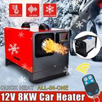 Car Heating All in One 12V 8000W Tool Diesel Air Heater Single Hole LCD Monitor Parking Warmer Quick Heat For Car Truck|A/C & Heater Controls|   -