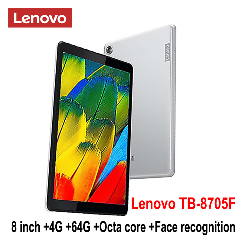 Newest Lenovo smart tablet TB 8705F 8 inch 4G RAM 64G ROM Octa Core WiFi version 5100mAh face recognition FHD IPS dolby sound