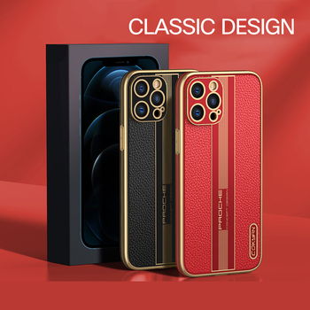 Fashion Luxury Business Shockproof Soft Silicone PU Leather Cell Phone Case For iPhone 12 11 Pro Max Mini Cover Fundas Coque 1