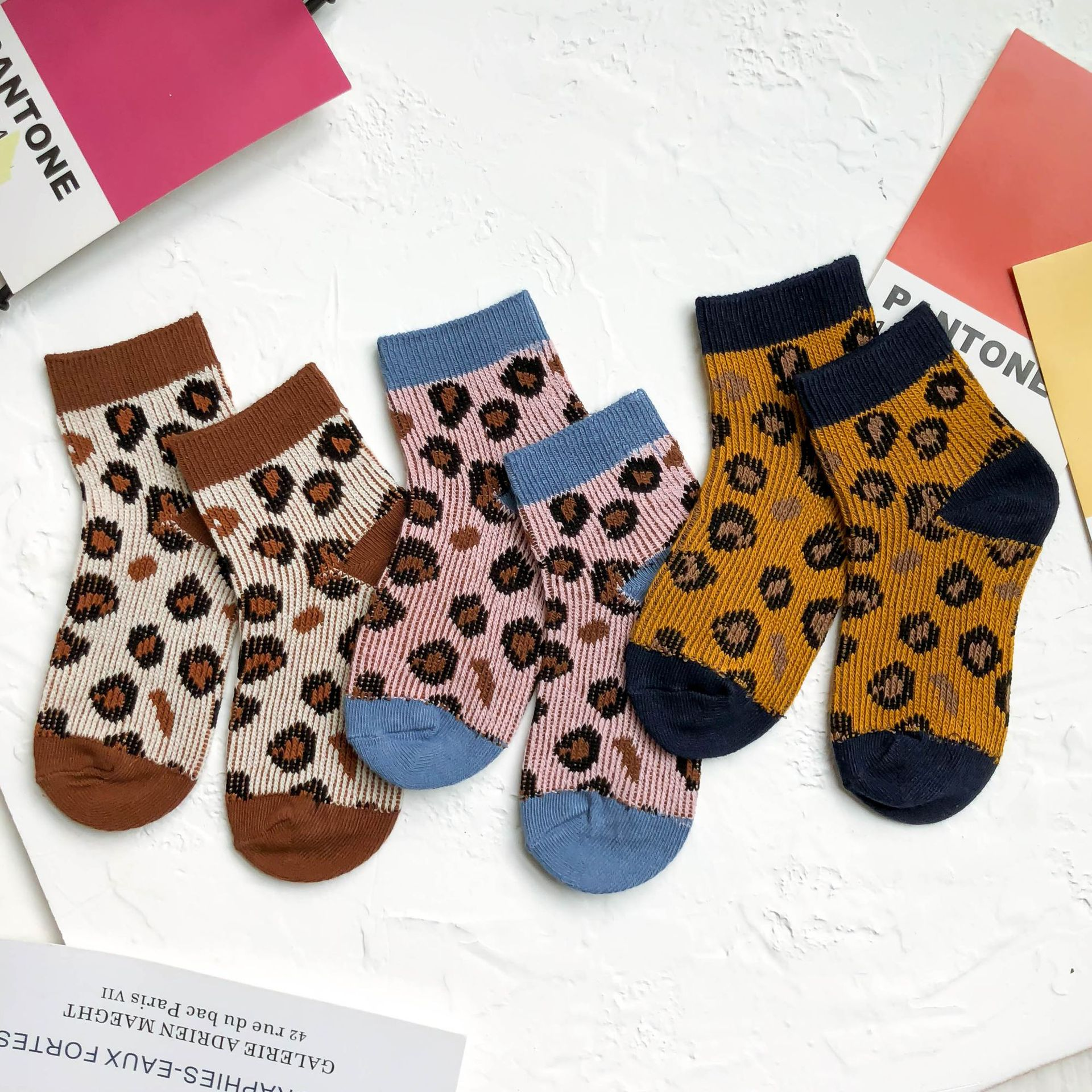 Baby Lotus 2019 New Spring Autumn Fashion Breathable Leopard Boys Girls Socks Children Cute Socks 1-8Y
