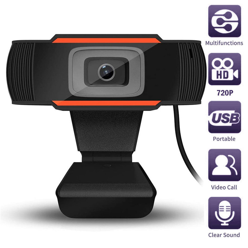 Full HD 720P Webcam USB Pc Computer Camera Clip-on With Microphone Popular Video Webcam For Online Teaching Live Broadcast