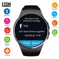 Moda smart watch mężczyźni KW18 wsparcie karty SIM TF połączenia Bluetooth tętno krokomierz tryby sportowe smartwatch dla Androida z systemem IOS