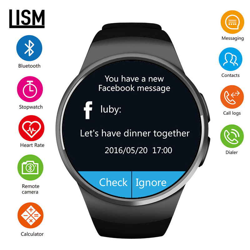 fashion Smart Watch Men KW18 Support SIM TF Card Bluetooth Call Heart Rate Pedometer Sport Modes Smartwatch For Android IOS|Smart Watches| |  - title=