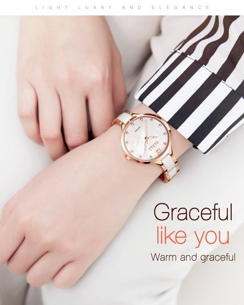 drose água rosa ouro strass vestido casual relógio menina