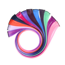 Hairpieces Color-Strips Clip-In Synthetic Straight 37-Colored Long Ombre Women Pure