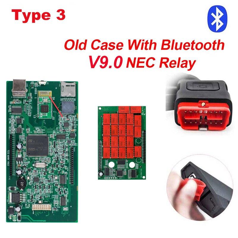 CDP TCS CDP Pro OBD2 Bluetooth R3 keygen,00 keygen для автомобилей/грузовиков OBD2 диагностический инструмент obd2 считыватель кодеров как MVD - Цвет: type3 Old Case BT