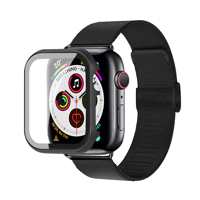 Milanese Loop Band+case For Apple Watch 5 4 3 Correa 42mm 38mm Pulseira Bracelet Watchband Belt Case Cover Applewatch 44mm 40mm