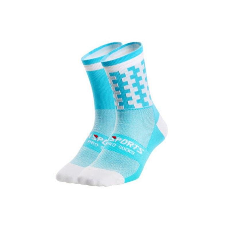 1 пара профессиональных спортивных носков для мужчин и женщин, дышащие спортивные носки для тренировок, бега, походов, альпинизма - Цвет: Q